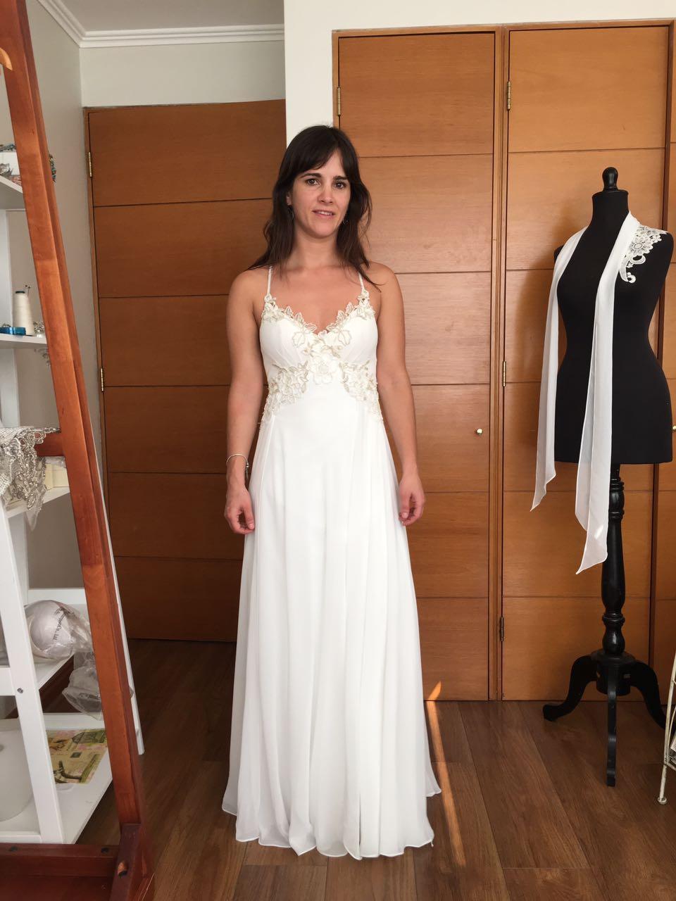 Vendo vestido de novia usado santiago chile