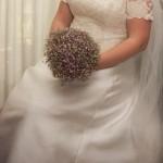 vestido boda sentada
