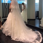 vestido novia con velo igual falda